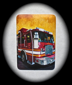 Metal Single Toggle Switch Plate Cover ~ Fire Truck - Just Switch It 2