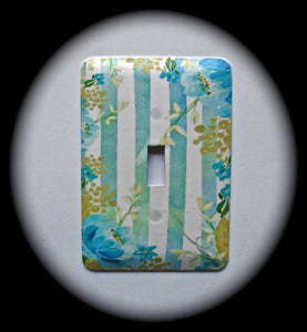 Metal Single Toggle Switch Plate Cover ~ Floral Print - Just Switch It 2