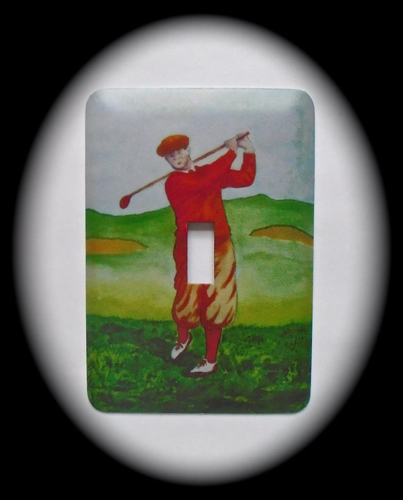 Single Switch Plate ~ Golf