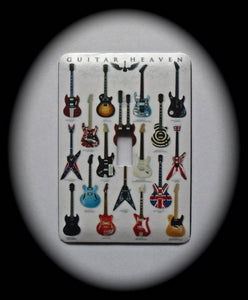 Metal Single Toggle Switch Plate Cover ~ Guitar Heaven - Just Switch It 2