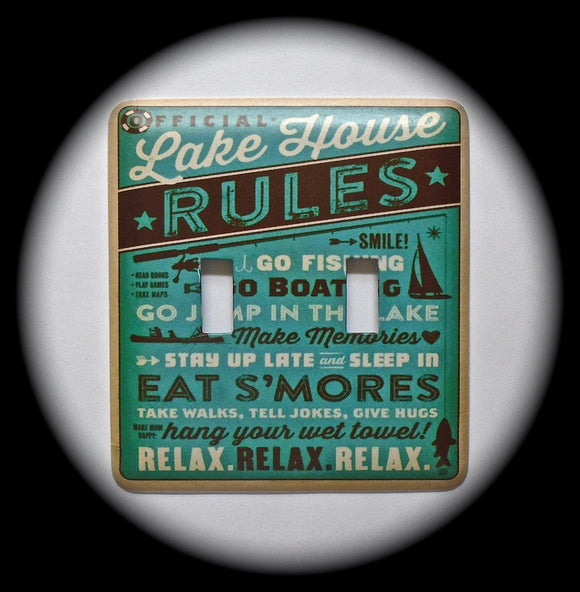 Double Switch Plate ~ Lake House