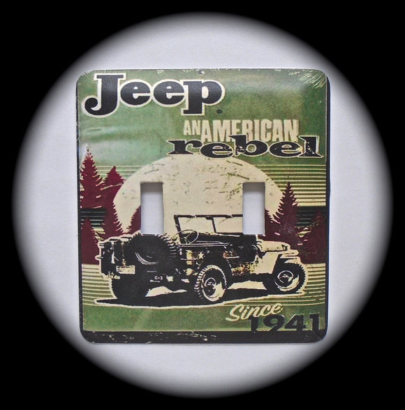 Double Switch Plate ~ Jeep Rebel