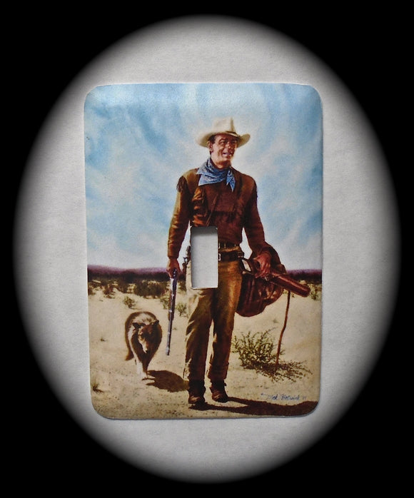 Metal Single Toggle Switch Plate Cover ~ Western Movie Actor - Just Switch It 2