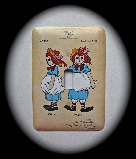 Metal Single Toggle Switch Plate Cover ~ Rag Dolls - Just Switch It 2