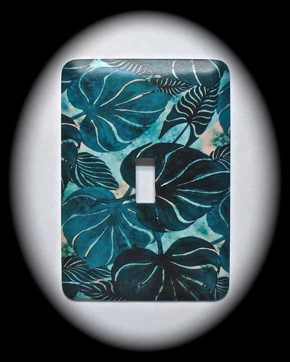 Single Switch Plate ~ Leaf Print