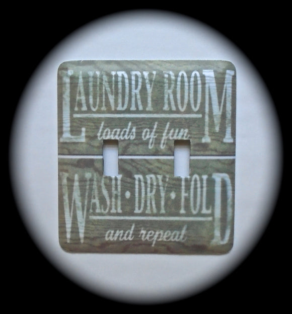 Double Switch Plate Cover ~ Laundry Room