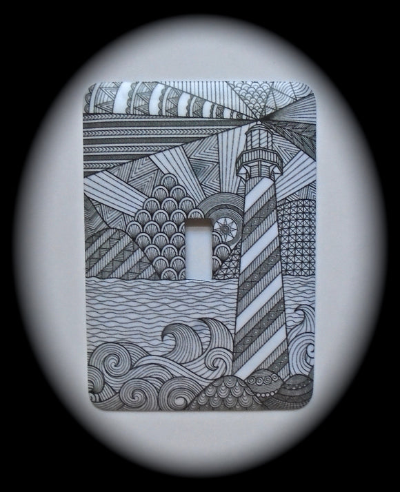 Single Switch Plate ~ Lighthouse
