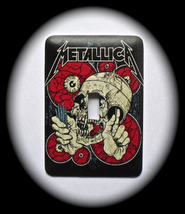 Metal Single Toggle Switch Plate Cover ~ Heavy Metal Band - Just Switch It 2