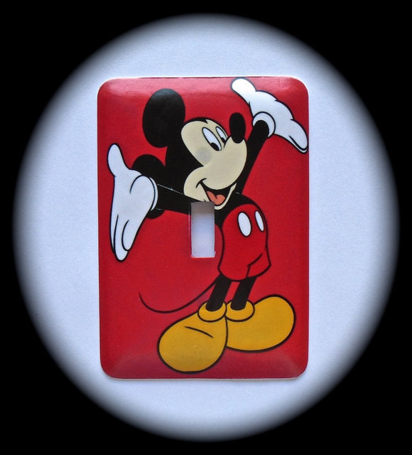 Metal Single Toggle Switch Plate Cover ~ Mouse Cartoon Character - Just Switch It 2