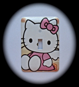 Metal Single Toggle Switch Plate Cover ~ Miss Kitty - Just Switch It 2