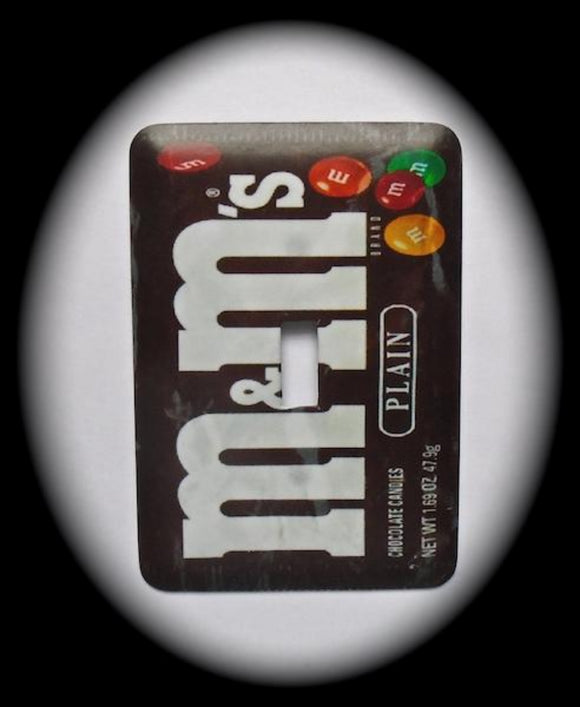 Metal Single Toggle Switch Plate Cover ~ M&M Candy - Just Switch It 2
