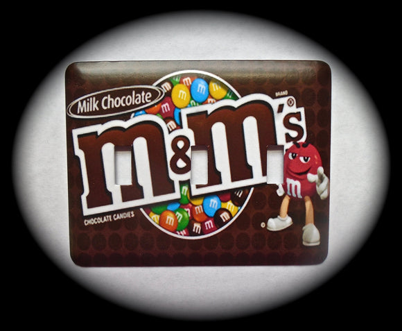 Metal Triple Toggle Switch Plate Cover ~ M&M Candy - Just Switch It 2