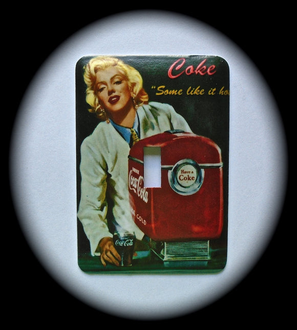 Metal Single Toggle Switch Plate Cover ~ Actress, Soda Machine - Just Switch It 2