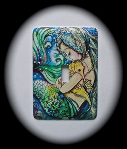 Metal Single Toggle Switch Plate Cover ~ Mermaid - Just Switch It 2