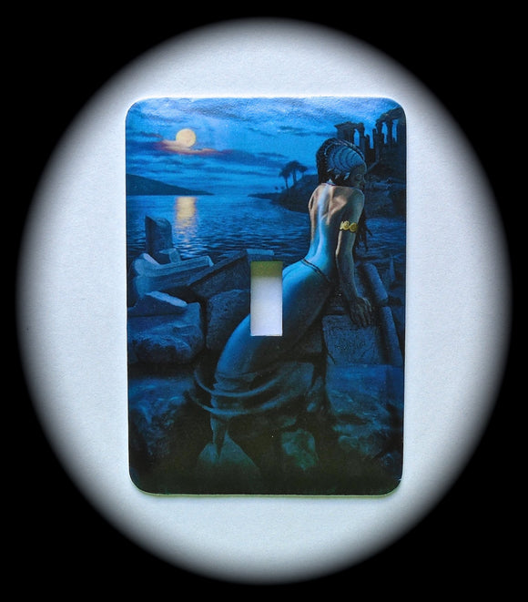 Metal Single Toggle Switch Plate Cover ~ Mermaid, Ocean - Just Switch It 2