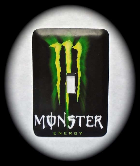 Metal Single Toggle Switch Plate Cover ~ Energy Drink - Just Switch It 2
