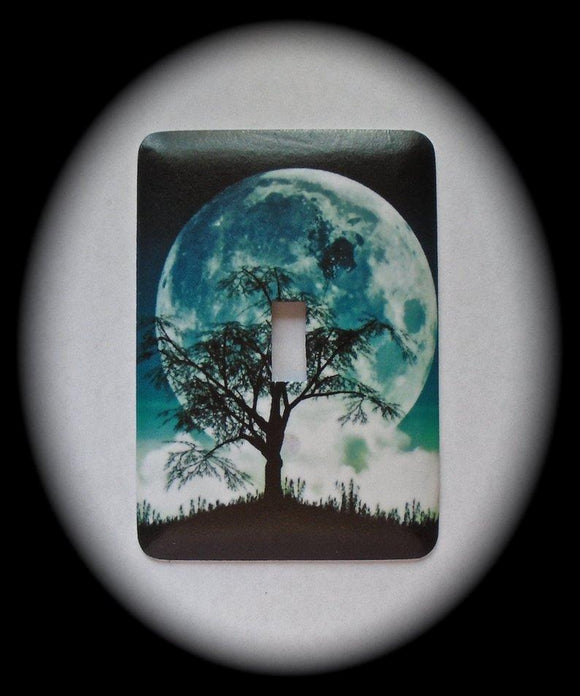Metal Single Toggle Switch Plate Cover ~ Night Scenery - Just Switch It 2