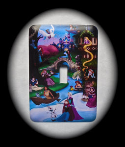 Metal Single Toggle Switch Plate Cover ~ Animated Family Movie - Just Switch It 2