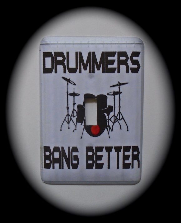 Single Switch Plate ~ Drummers