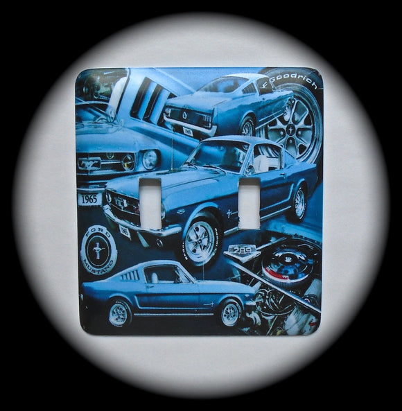 Double Switch Plate ~ Ford Mustang