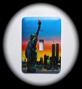 Metal Single Toggle Switch Plate Cover ~ Statue of Liberty - Just Switch It 2