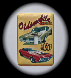 Metal Single Toggle Switch Plate Cover ~ Oldsmobile 442 Hot Rod - Just Switch It 2