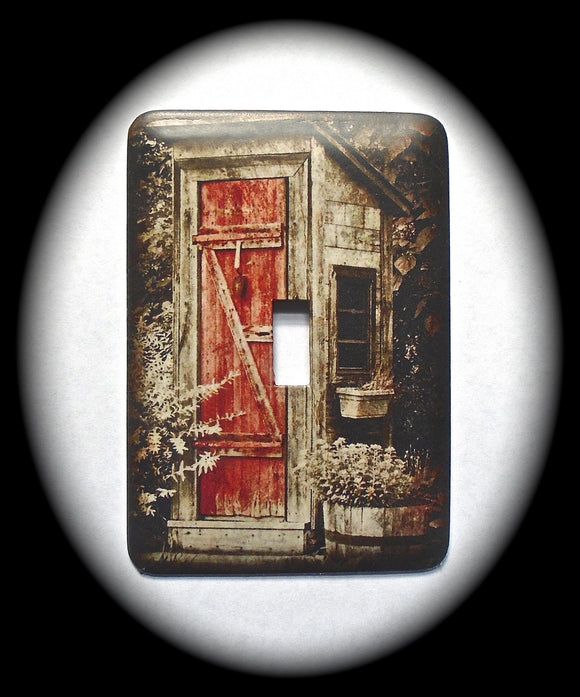 Single Switch Plate ~ Outhouse