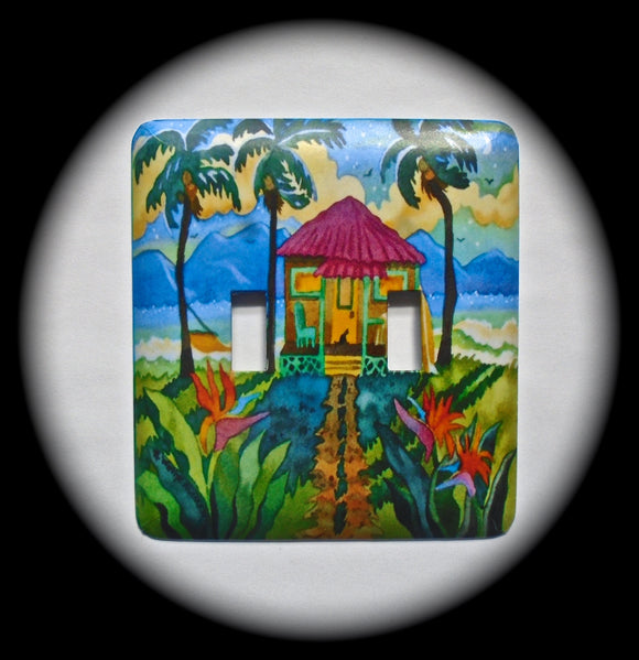 Double Switch Plate ~ Outdoor Scene