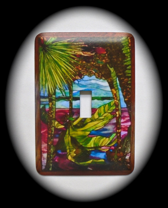 Single Switch Plate ~ Palm Trees