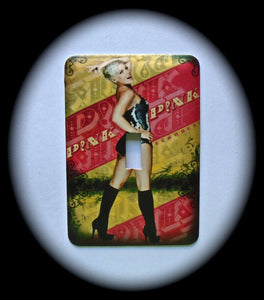 Metal Single Toggle Switch Plate Cover ~ Contemporary Pop Music Singer - Just Switch It 2