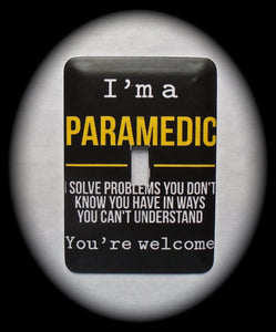 Metal Single Toggle Switch Plate Cover ~ Paramedic - Just Switch It 2