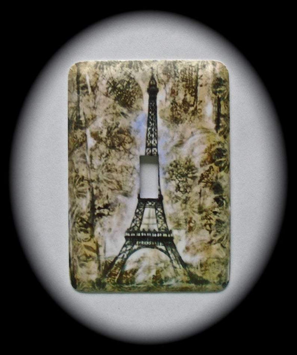 Metal Single Toggle Switch Plate Cover ~ Paris Eiffel Tower - Just Switch It 2