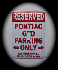 Single Switch Plate ~ Parking Sign
