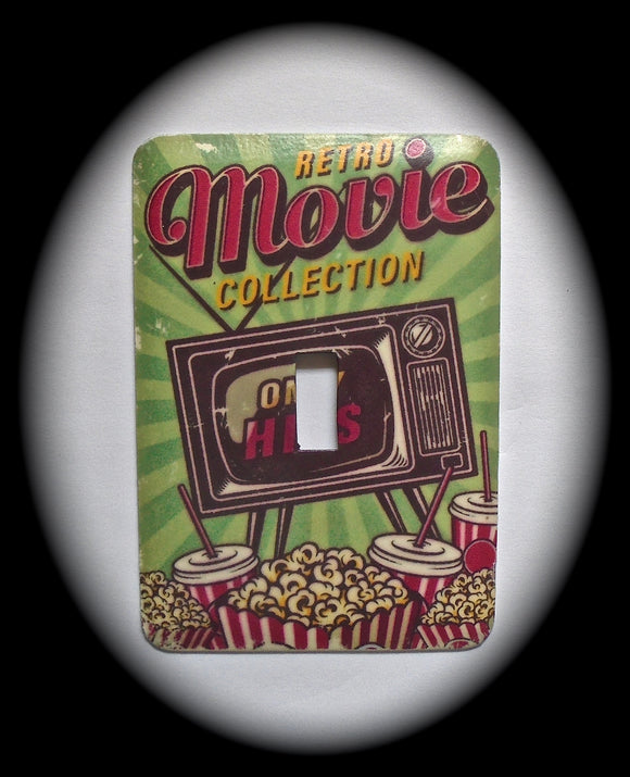 Single Switch Plate ~ Movie Popcorn