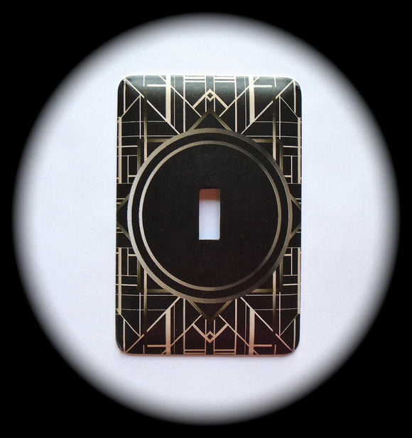Metal Single Toggle Switch Plate Cover ~ Art Deco - Just Switch It 2