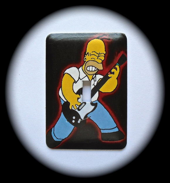 Metal Single Toggle Switch Plate Cover ~ TV Cartoon Family - Just Switch It 2
