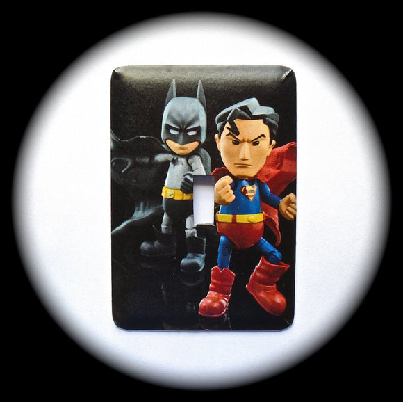 Metal Single Toggle Switch Plate Cover ~ Superheroes - Just Switch It 2