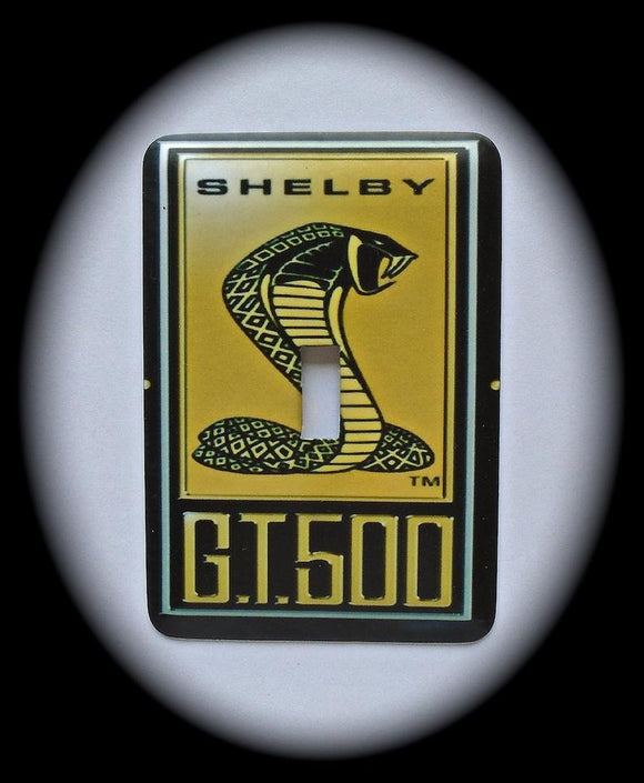 Metal Single Toggle Switch Plate Cover ~ Shelby G.T.500, Cobra - Just Switch It 2