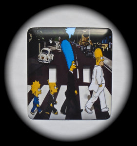 Double Switch Plate ~ TV Cartoon Family