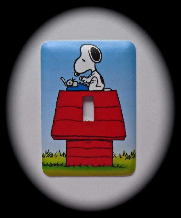 Metal Single Toggle Switch Plate Cover ~ Dog Cartoon Character - Just Switch It 2