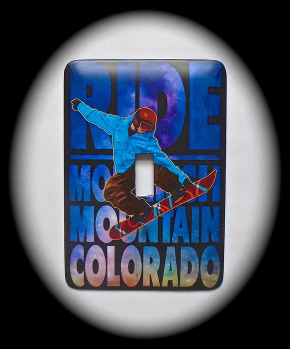 Single Switch Plate ~ SnowBoarder