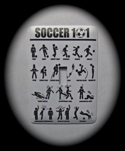 Metal Single Toggle Switch Plate Cover ~ Soccer Moves - Just Switch It 2