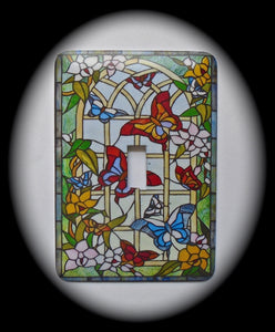 Single Switch Plate ~ Stained Glass