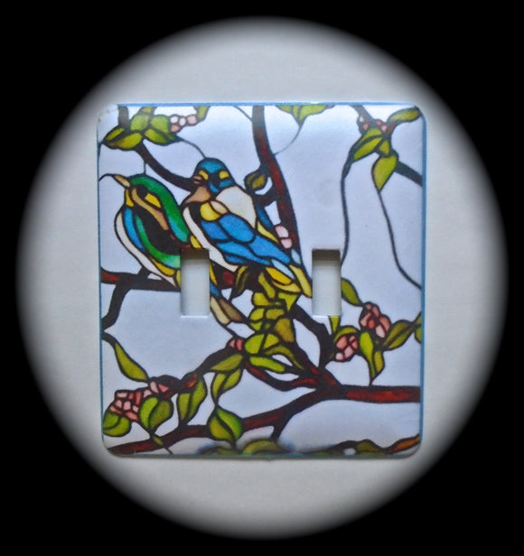 Double Switch Plate ~ Stained Glass