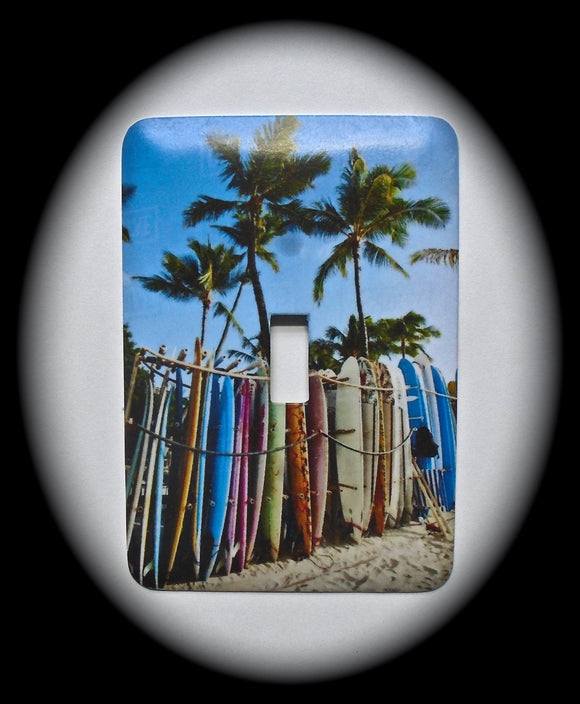 Single Switch Plate ~ Surf Boards