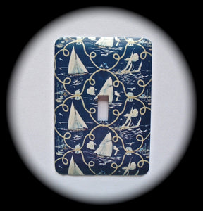 Metal Single Toggle Switch Plate Cover ~ Sailboats - Just Switch It 2