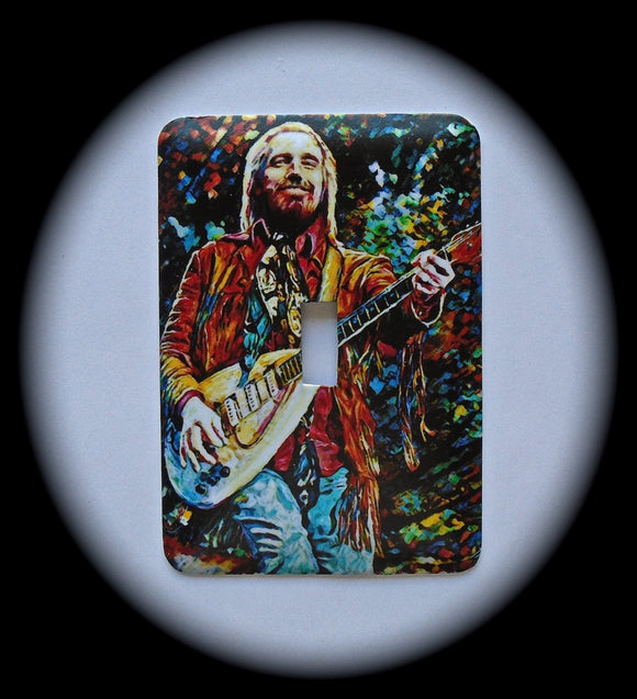 Metal Single Toggle Switch Plate Cover ~ Rock Singer - Just Switch It 2