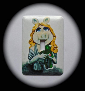 Metal Single Toggle Switch Plate Cover ~ TV Puppet Show Character - Just Switch It 2