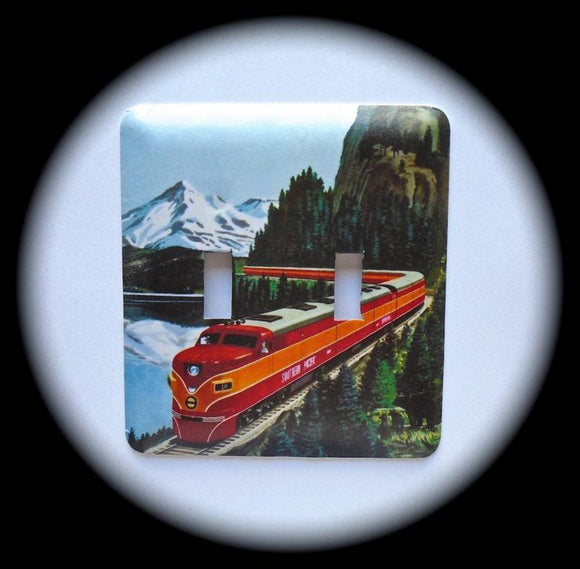 Metal Double Toggle Switch Plate Cover ~ Train - Just Switch It 2