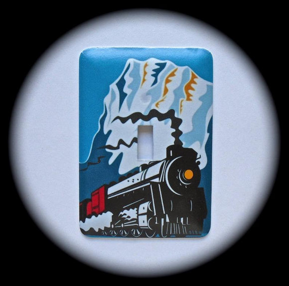 Metal Single Toggle Switch Plate Cover ~ Train - Just Switch It 2
